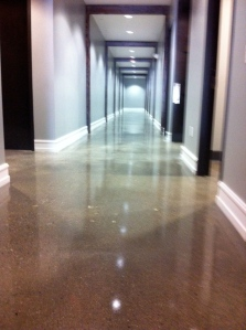 King Harbor Church Polished Concrete